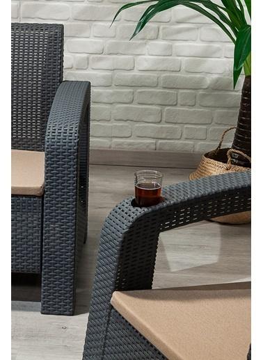 Sandalie Olimpos 3+1+1+s Balkon&teras Bahçe Mobilyası / Antrasit  Antrasit